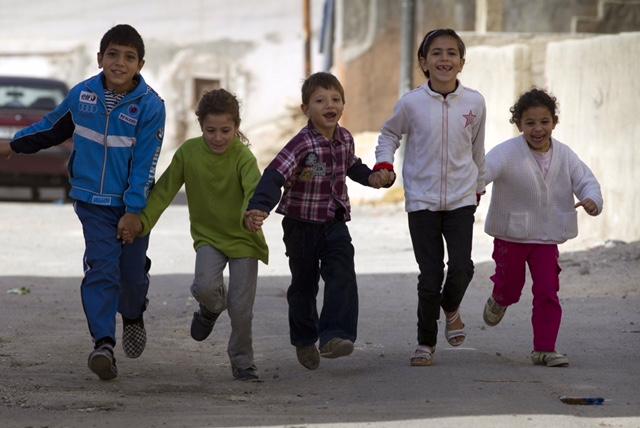 Fluechtlingshilfe Syrien - Frau Cornelia Fuellkrug-Weitzel besucht Syrische Fluechtlinge in Jordanien.